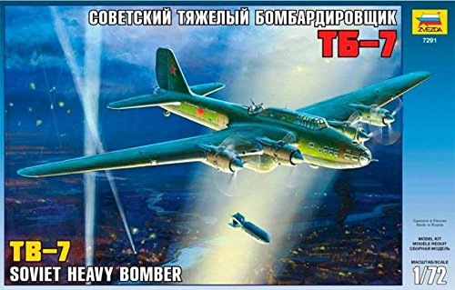 Zvezda Models 1/72 Soviet Bomber TB-7