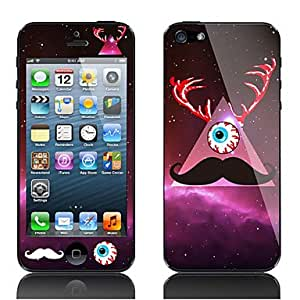 Jia Mustache and Eye Pattern Decorative Film for iPhone 5