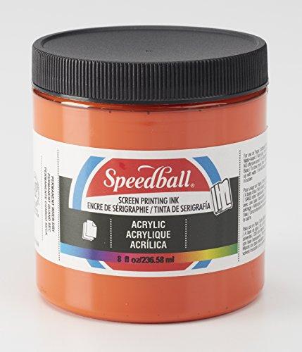 Speedball 004624 Acrylic Screen Printing Ink, 8 fl. oz, Orange