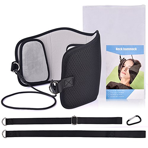 MS.DEAR Head Hammock for Neck Pain Relief, Hammock Stretcher Cervical Traction for Neck, With One Eye Mask for Sleeping by MS.DEAR (Image #1)
