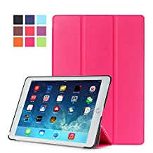 Protection Housse pour Apple iPad Air 2 9.7 Pouce Smart Slim Case Book Cover Stand Flip iPad 6 (Pink) NEUF