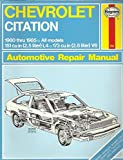 Chevrolet Citation (Hayne's Automotive Repair Manual)