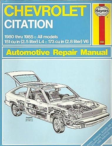 chevrolet citation hayne s automotive repair manual john harold rh amazon com MLA Citation Manual California Citation Manual