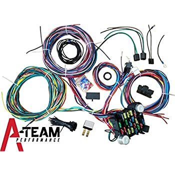 amazon com 22 circuit universal street rod wiring harness w rh amazon com street rod wiring diagram
