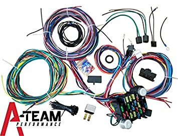 amazon com a team performance 21 standard circuit universal wiring rh amazon com car wiring harness parts race car wiring parts