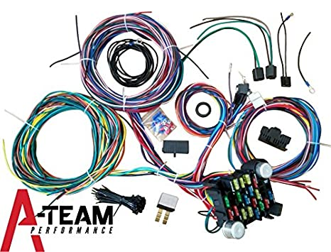 Amazon Ateam Performance 21 Standard Circuit Universal Wiring. Ateam Performance 21 Standard Circuit Universal Wiring Harness Kit Muscle Car Hot Rod Xl. Wiring. Ez Wiring Diagrams Hot Rod At Scoala.co