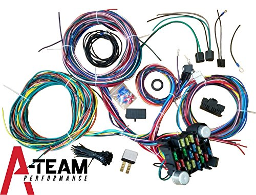A-Team Performance 21 Standard Circuit Universal Wiring Harness Kit Muscle Car Hot Rod XL Wire