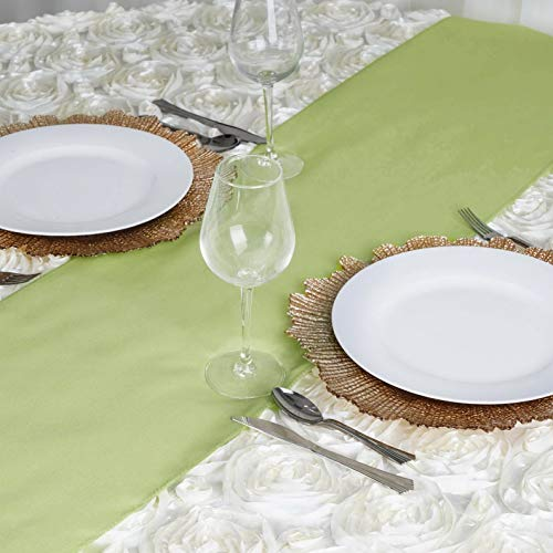 Mikash 12 x 108 Polyester Table Runner Wedding Party Dinner Table Supply Decorations | Model WDDNGDCRTN - 2366 | 1 pc -