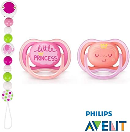 6 Lot de 2, Philips Avent Ultra Soft Sucette 18/mois