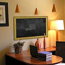 Rayne Mirrors American Made Vintage Gold Blackboard/Chalkboard with White/Silver Edge Finish, 16