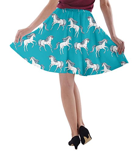 line Gonna A Cowcow Turquoise Donna w4I4TPX8q