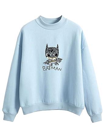 Mignon Ado Femme Batman Automne Fille Sweat Shirt Imprimé qB7vTxwTz6