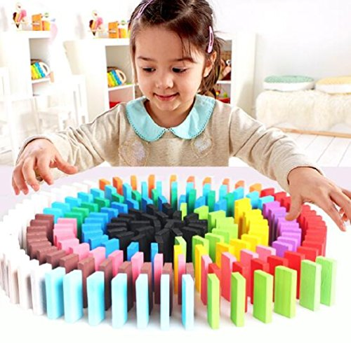120pcs/lot Board Game for Kids Gift Wooden Domino Set Non-toxic Green Painting Children Toys Wooden Toys by Yan Toy Gift