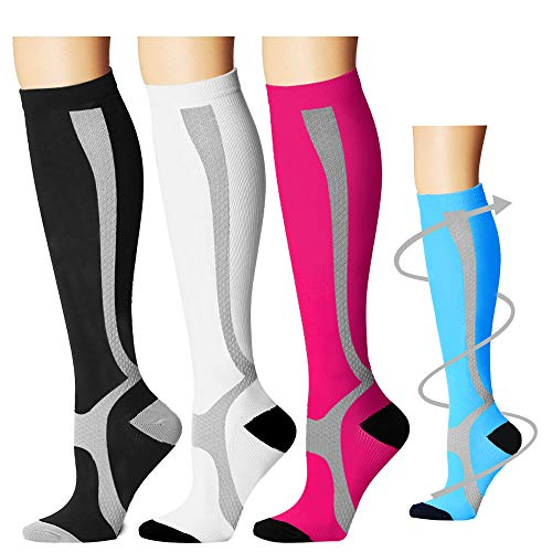 COOLOVER Compression Socks Women & Men (3/5/7 Pairs) -Best Medical,Nursing,Travel, Flight Socks-Running & Fitness Pregnancy