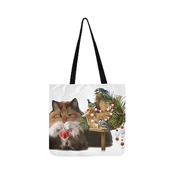 Bolso bandolera de lona para gatos y pollitos, para decorar la casa, bolso de