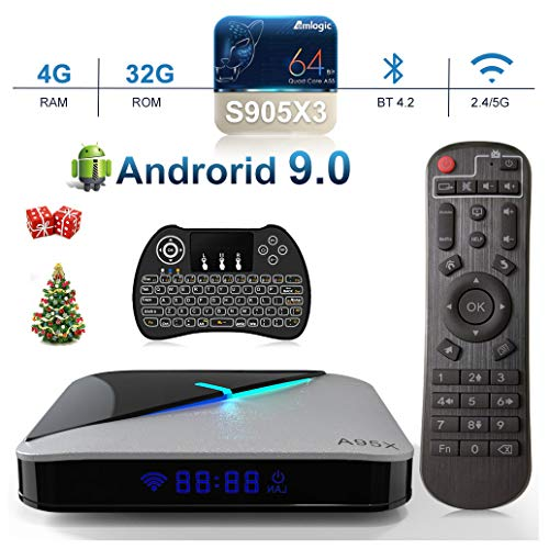 Android 9.0 TV Box, 4GB 32GB EstgoSZ Android Box Amlogic S905X3 A55 CPU G31 GPU HDMI 2.1/H265 VP9 Decode/2.4G 5.0G WiFi…