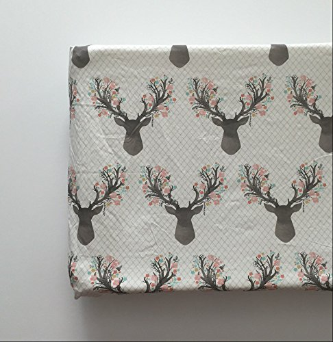 Changing Pad Cover - Floral Deer