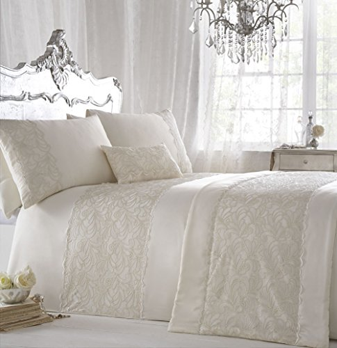 ZIGGUO 3-PC Luxury Cotton Duvet Cover Set - Embroidered Queen Size 90