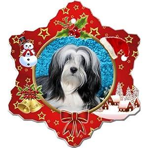 Tibetan Terrier Porcelain Holiday Ornament 29