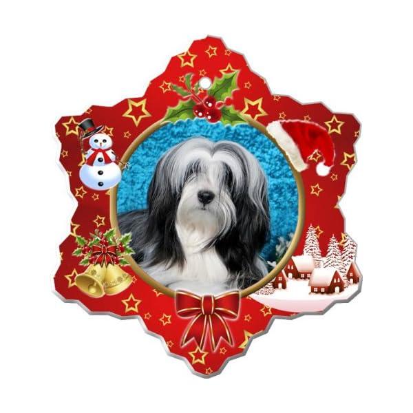 Tibetan Terrier Porcelain Holiday Ornament 1