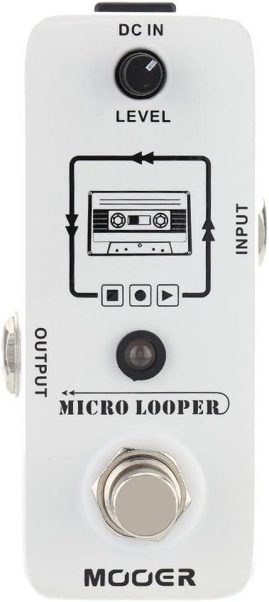 Muslady mooer Looper Micro Mini Loop Grabar Pedal de Efecto para Guitarra Eléctrica True Bypass