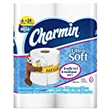 Charmin Toilet Paper, Ultra Soft Bath Tissue, Mega Roll Toilet...