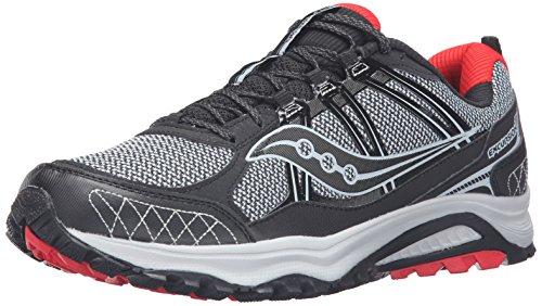 Saucony Men's Grid Excursion TR10 Running Shoe, Red/Black/Grey, 11 M US