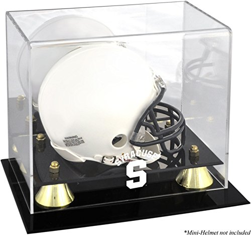 Sports Memorabilia Syracuse Orange Golden Classic (2015-Present Logo) Mini Helmet Display Case - College Mini Helmet Free Standing Display Cases