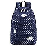 """Best S-ZONE Laptop Backpacks - S-ZONE Lightweight Polka Dot Canvas Backpack 14""""-15"""" Laptop Review"""