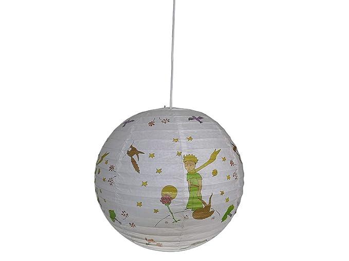 Lámpara colgante papel globo el principito 40 cm de diámetro ...