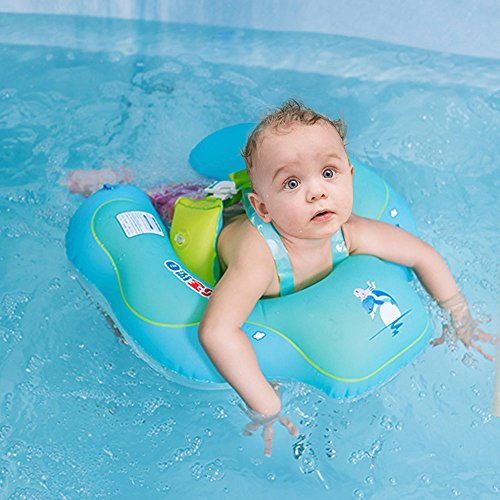 JAM LEE Baby Inflatable Pool Float with comfortable backrest for 2 to 6 Years Old,Children Waist Float Ring Inflatable Floats Pool Toys (X-Large)