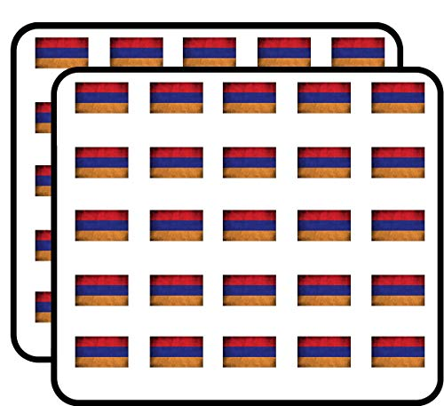 (Armenia Flag Vintage (Armenian Tricolour National) Sticker for Scrapbooking, Calendars, Arts, Kids DIY Crafts, Album, Bullet Journals)