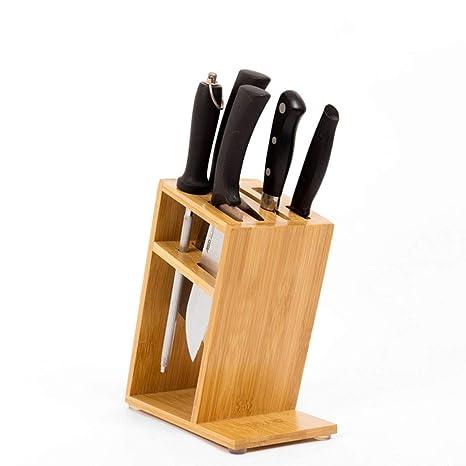 WYDM Porta Cuchillos de Madera de bambú, Cocina del hogar ...