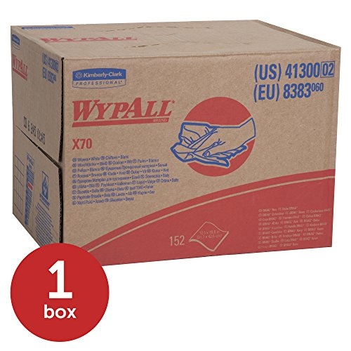 WypAll X70 Extended Use Reusable Cloths (41300), Brag Box, Long Lasting Performance, White, 1 Box, 152 Sheets by Kimberly-Clark Professional (Image #2)