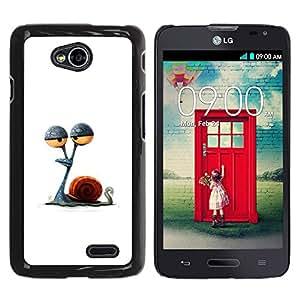 YOYOYO Smartphone Protección Defender Duro Negro Funda Imagen Diseño Carcasa Tapa Case Skin Cover Para LG Optimus L70 LS620 D325 MS323 - ojos caracol apedrearon dibujo minimalista