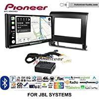 Volunteer Audio Pioneer AVIC-W8400NEX Double Din Radio Install Kit with Navigation, Apple CarPlay and Android Auto Fits 2012-2015 Toyota Tacoma with Amplified System