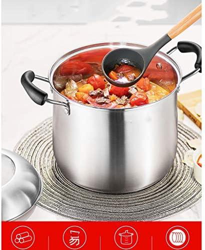 DYXYH Cuisinière à induction gaz application marmite à soupe 304 en acier inoxydable grande capacité Épaississement Ragoût Porridge Pot Noodle Ménage (Size : 22cm)
