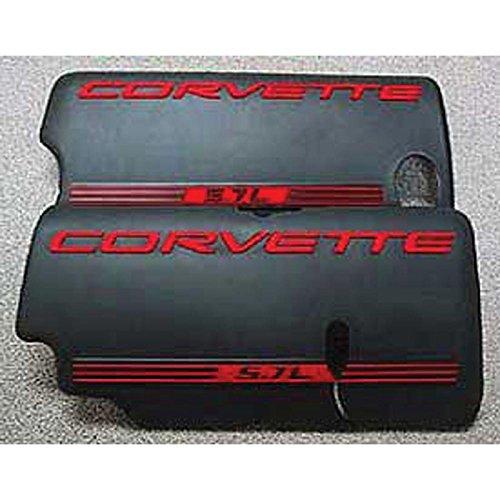Eckler's Premier Quality Products 25-213551 - Corvette Fuel Rail Cover Letter Kit Black by Premier Quality Products