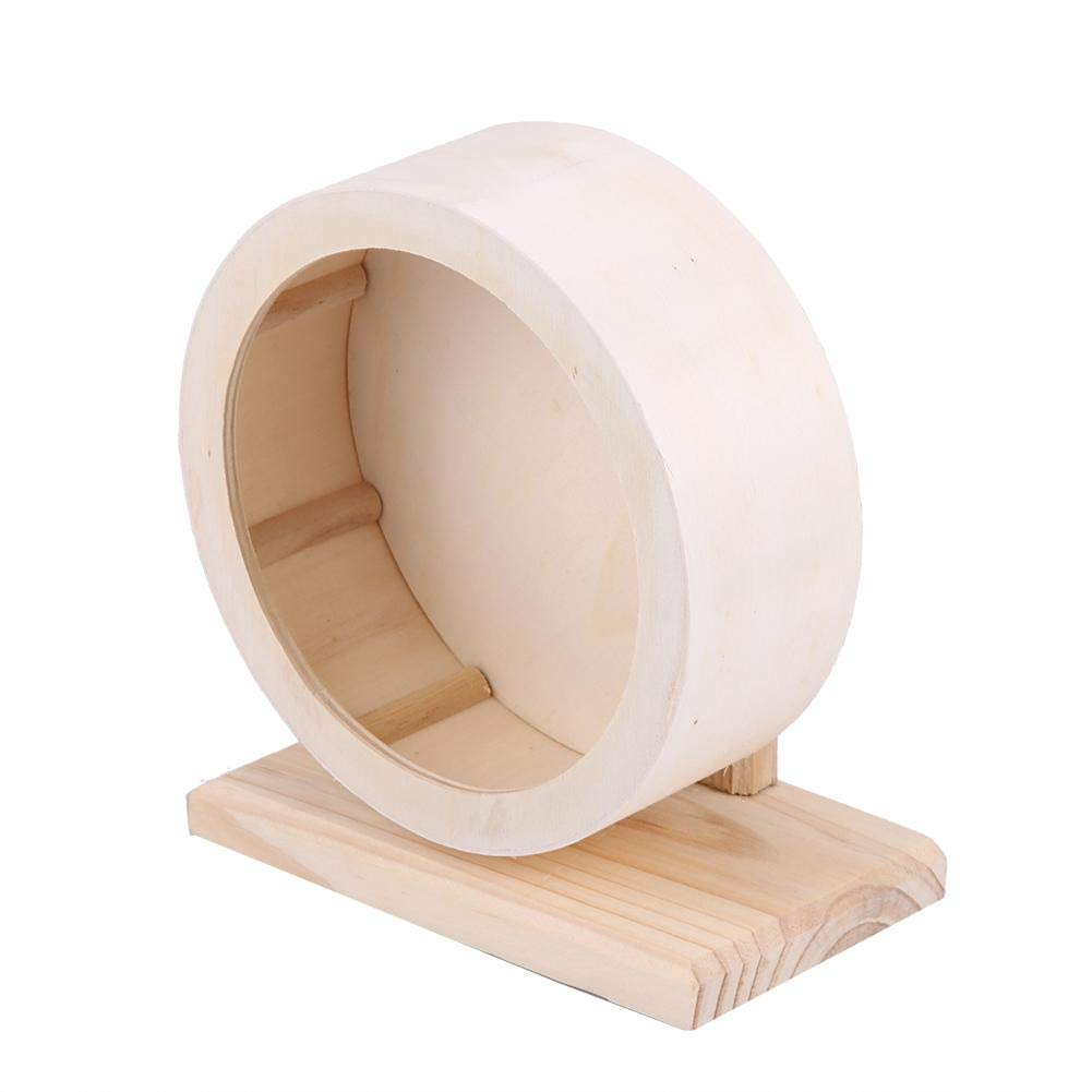 Yosooo Small Animals Exercise Wheel Hamster Pets Wooden Rest Nest Playing Toy(M)