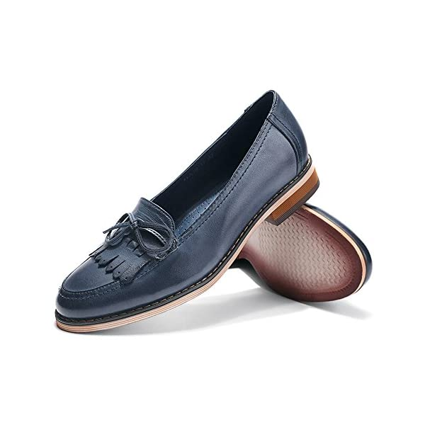 Mona Flying Women Leather Slip-On Loafers Shoes for Women Handmade Original Lady Flats Shoes