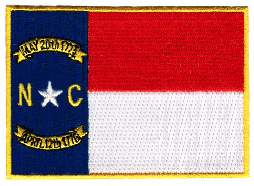 North Carolina State Flag Embroidered Patch Iron-On NC (North Carolina State Seal)