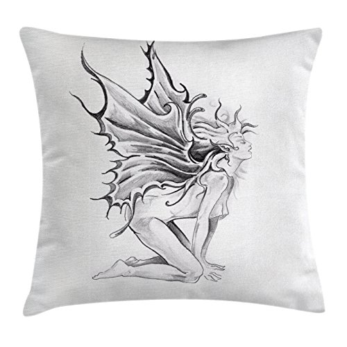 Tattoo Decor Throw Pillow Cushion Cover by Ambesonne, Art...