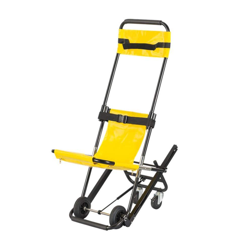 QETU Stair Chair, Aluminum Light Weight Lightweight Stair Evacuation Chair, 159Kg Capacity,Yellow by QETU