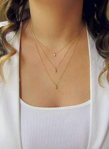 Triple Layered Necklace Set by Wander + Lust Jewelry