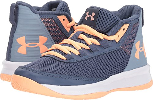 458a09ef0f034 Under Armour Kids Girl's UA GPS Jet 2018 (Little Kid) Utility Blue/Washed  Blue/Peach Horizon 12.5 M US Little Kid