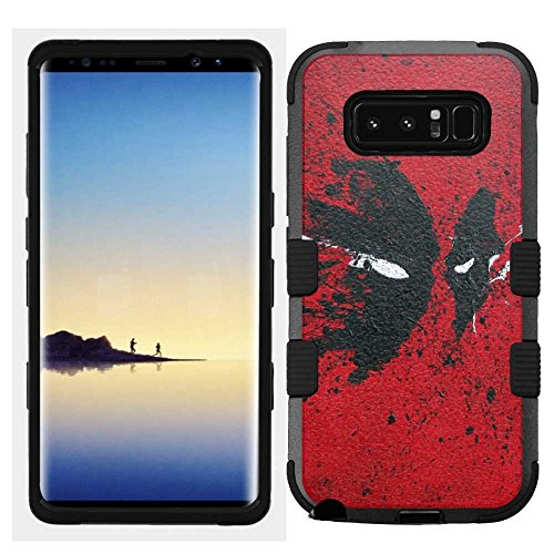 Price comparison product image Samsung Galaxy Note 8 Case, Hard+Rubber Dual Layer Hybrid Heavy-Duty Rugged Armor Cover Case - Deadpool #Spray