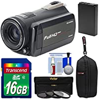 Bell & Howell Rogue DNV24HDZ 1080p HD Video Camera Camcorder with Infrared Night Vision + 16GB Card + Battery + Case + 3 Filters Kit