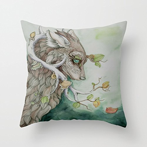 Forest Attitude Throw Pillow by Bonnie Johnson animal 1818inches