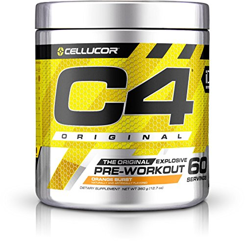 Cellucor C4 Original Pre Workout Powder Energy Drink w/ Creatine, Nitric Oxide & Beta Alanine, Orange Burst, 60 Servings
