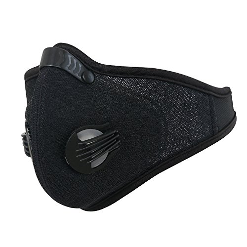 Dust Mask, MoHo Dustproof Mask Filtration Exhaust Gas Anti Pollen Allergy Fitness Mask, Motorcycle Mesh Cover Dust Mask Half Face Bike Mask for Outdoor Activities (Black)